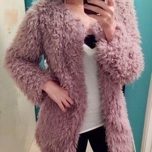 Jackets & Blazers - Faux shearling fuzzy coat super soft!